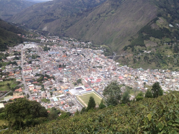 A nice view of Baños
